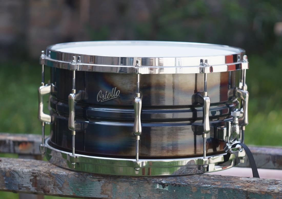 seamless spun manganese steel snare drum oriollo ferromang. Black Bedroom Furniture Sets. Home Design Ideas